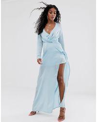 Vestito lungo di Missguided in Blue