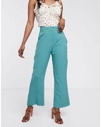 Closet Closet Bootcut Cropped Pants-blue