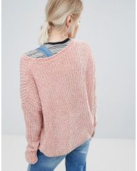 Pepe Jeans - Pink Chana Knit Jumper - Lyst
