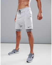 Nike Purple 'run Division' Distance Drop Crotch Shorts In Grey 892893-027 for men