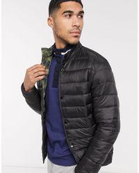 Черная Стеганая Куртка С Камуфляжной Подкладкой -черный Barbour для него, цвет: Black