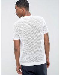 ASOS - Mesh T-shirt In White for Men - Lyst