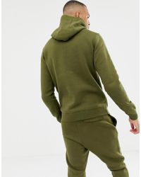 Nike Tall Pullover Hoodie With Swoosh Logo In Green 804346-395 for men
