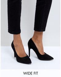 Черные Туфли-лодочки На Каблуке New Look-синий New Look, цвет: Black