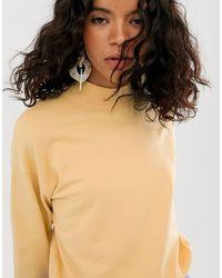 Felpa oversize giallo tenue di Weekday in Yellow