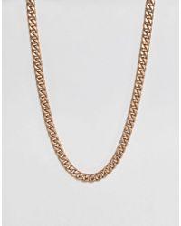 ASOS - Metallic Oversized Neckchain In Gold for Men - Lyst