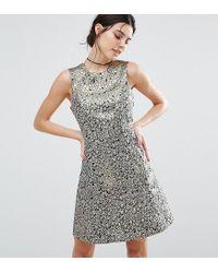 Womens Metallic Feather Jacquard Skater Dress new product e604c d34c7  Ax  Paris ... 4ce498514