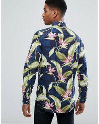 Tommy Hilfiger Blue Paradise Print Shirt for men