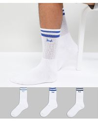 Pringle of Scotland - White Sport Socks 3 Pack for Men - Lyst