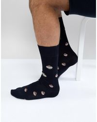 Paul Smith Blue Multi Polka Socks In Navy for men