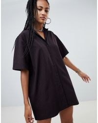 The Ragged Priest Red X Betsy Johnson Shirt Dress With Embroidery