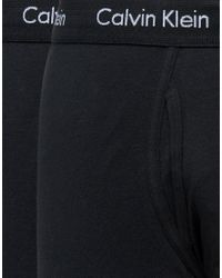 CALVIN KLEIN 205W39NYC - Black 2 Pack Stretch Cotton Trunks for Men - Lyst