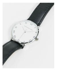 Серебристые Часы С Белым Циферблатом -черный Christin Lars для него, цвет: Multicolor