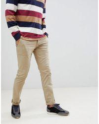 BOSS Natural Shino Slim Chino In Beige for men