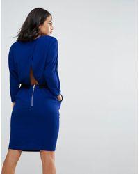 Vestido tulipán con espalda abierta cruzada Cecca Y.A.S de color Blue