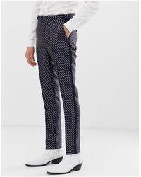 Pantalones ajustados ASOS de hombre de color Blue