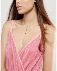 House of Harlow 1960 - Metallic Double Length Lariat Necklace - Lyst