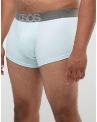 ASOS - Plus Hipsters With Branded Waistband In Blue 5 Pack for Men - Lyst