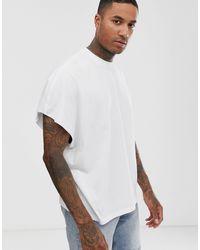 Camiseta extragrande en blanco ASOS de hombre de color White