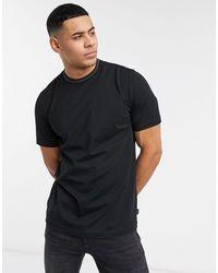 PS by Paul Smith Black Sports Stripe Neckline T-shirt for men