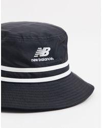 LSA - Bob à logo New Balance en coloris Black