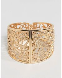 Nylon - Metallic Vintage Style Jewelled Bracelet - Lyst