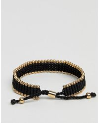Vitaly - Diario Bracelet In Black & Gold for Men - Lyst