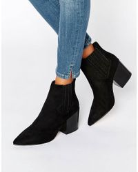 ASOS | Black Elliot Pointed Chelsea Ankle Boots | Lyst