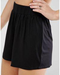 ASOS - Black Design Culotte Shorts - Lyst