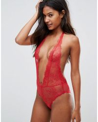 L'Agent by Agent Provocateur - Red Grace Lace Body - Lyst