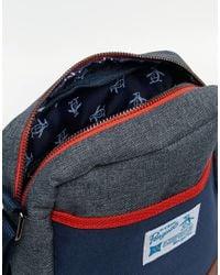 Original Penguin Blue Colour Block Festival Bag for men