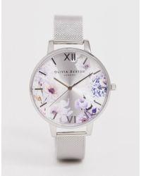 OB16EG117 - Sunlight Florals - Montre avec bracelet effet maille - Argenté Olivia Burton pour homme en coloris Metallic