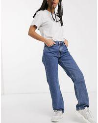 Weekday Blue Voyage Straight Leg Jeans