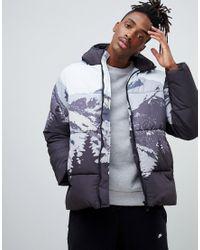 ASOS Blue Puffer Jacket for men