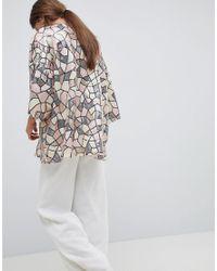 Traffic People - Multicolor Sequin Kimono - Lyst