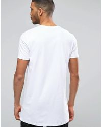 ASOS 2 Pack Super Longline T-shirt With Crew Neck In Black/white Save for men