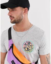 Tom Tailor – T-Shirt mit Maui-Print auf dem Rücken in Gray für Herren