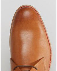 Lambretta - Brown Desert Boot In Tan Leather for Men - Lyst