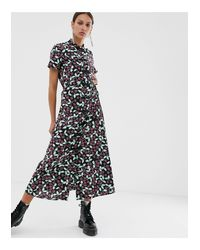 Résumé Black Resume Ora Cherry Print Midi Dress
