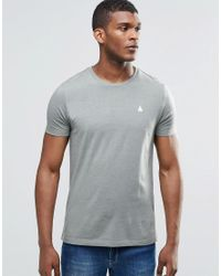 ASOS | T-shirt With Logo And Crew Neck In Green for Men | Lyst