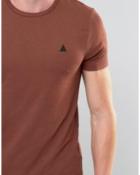 ASOS - Multicolor Muscle T-shirt With Logo In Brown for Men - Lyst