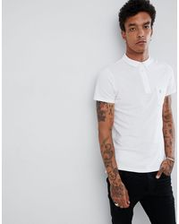 Noose And Monkey White Polo Shirt With Pocket Logo for men