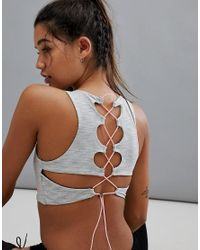 MINKPINK White Active Off The Grid Lattice Back Sports Crop Top