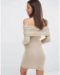 Lipsy Multicolor Michelle Keegan Loves Off Shoulder Jumper Dress