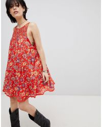 66ecc173cc92 Free People Oh Baby Floral Print Dress in Red - Lyst