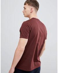 Laurel Wreath - T-shirt imprimé - Bordeaux Fred Perry pour homme en coloris Red