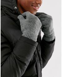 Only & Sons Gray Gloves for men