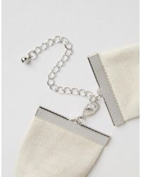 ASOS - Natural Wide Jersey Choker Necklace - Lyst