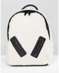 Skinnydip London | Multicolor Faux Shearling Backpack With Zip Detail | Lyst