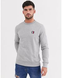 Tommy Hilfiger Gray Iconic Mini Badge Sweatshirt for men